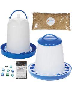 Poultry/Bird Feeder & Waterer Kit