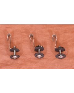 Mounting clips for tubular heating elements - Set of 3