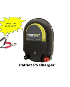 Electric Fence Energizer Charger Patriot P5 for all livestock (cows, horses etc.)