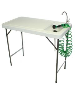 Poultry Processing Table with Faucet and Coil Hose Sprayer