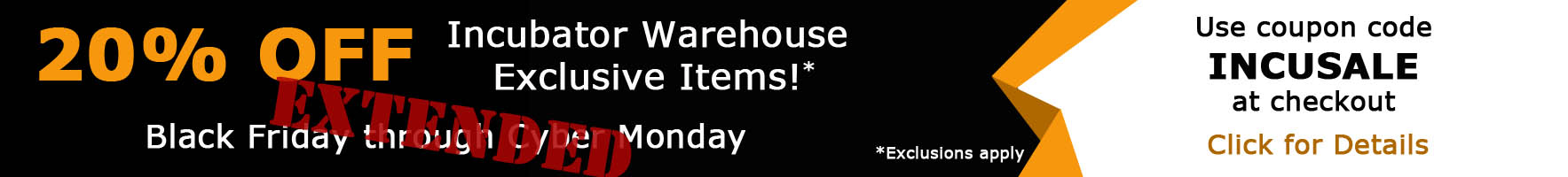 Extended Black Friday Through Cyber Monday Sales Event