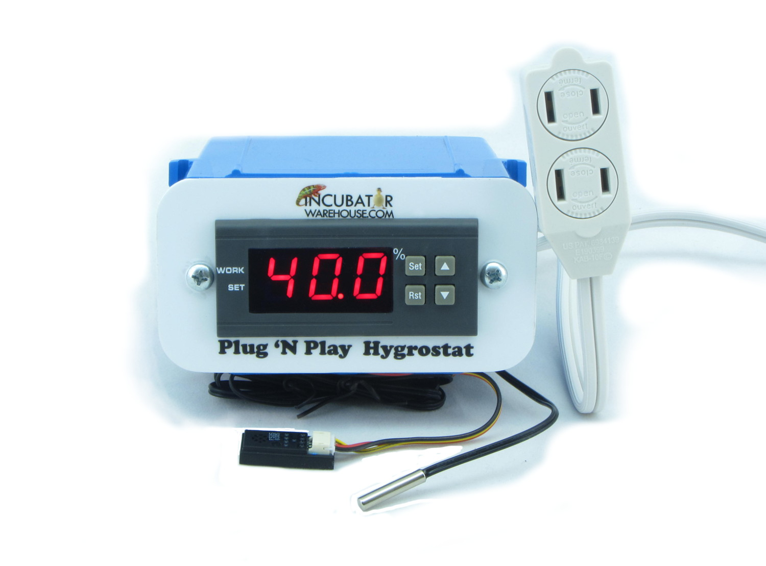 Plug 'n Play Hygrostat for humidity control in Egg Incubator, Reptile Terrarium